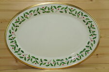 "Lenox Holiday-Oval Serving Platter, 16 1/2"" x 12""-Medium -Made in USA"