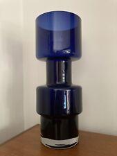 More details for a mid century riihimaki hoop cog vase cobolt blue 1965/70
