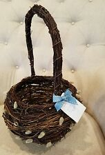 Pottery Barn Pusssy Willows Decorative Easter Basket New with Tags