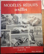 Modeles réduits d'autos MRA 1954 (Dinky toys, Solido, Corgi)