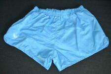 RETRO ERIMA BLUE SHINY 100% NYLON SPORTS SPRINTER SHORTS MENS SIZE 7 - LARGE