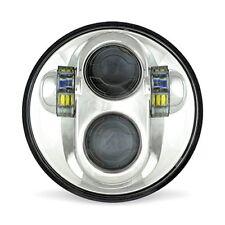 "40W 5.75"" H4 Cree LED Headlight Headlamp + DRL White 6000K 3100 Lm Hi/Lo Beam"