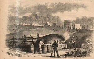 1861 Leslie's - Original print only - Quick Bread oven built for Bank's Cavalry