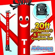 New listing Red Tire Sale AirDancerΨ & Blower 20ft Inflatable Tube Man Air Dancer Set