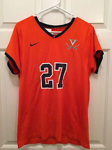 University of Virginia UVA Cavaliers Game Worn Used Womens Lacrosse Jersey #27
