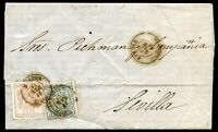 SPAIN LAZA  - OURENSE TO SEVILLA Cover 1875, VF