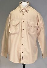Woolrich Travel Outdoor Hunting Fishing Buttondown – Yellow Tattersall SZ M