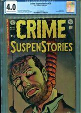 Crime SuspenStories #20 CGC 4.0... E.C. Classic Hanging CVR USED in S.O.T.I.