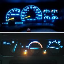 14 Ice Blue LED Kit For 1992-1999 Chevrolet Trucks Gauge Cluster and AC Controls