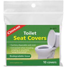 Coghlan's ASIENTO DEL INODORO cubiertas (10 Pack), Biodegradable Sanitaria Desechable Tejido