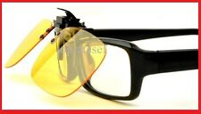 True New  Night Vision Clip-on Flip-up Lens Driving Glasses Sunglasses