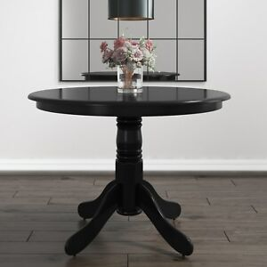 Small Round Dining Table in Black - Seats 4 - Rhode Island