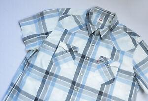 Levis Classic Western shirt men Short Sleeve top size 2XL XXL PLAID 21978-0051