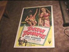 TARZAN TRIUMPHS 1949 ORIG MOVIE POSTER JOHNNY WEISSMULLER