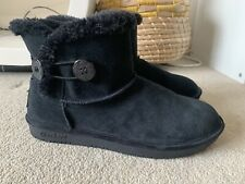 SKECHERS BLACK SUEDE ANKLE BOOTS SIZE UK 6 IN EXCELLENT CONDITION