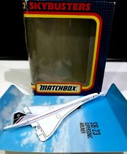 Matchbox Skybusters SB-23 British Airways Concorde supersonic 1:400 air model