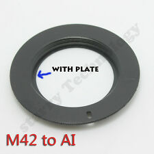 new M42 lens to AI FOR  Nikon AI mount adapter with plate D7000 D5100 D3100 D300