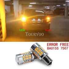 2x Canbus 1156PY BAU15S 7507 Amber Indicator Turn Signal LED Bulbs Light PY21W