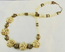 Jilly Beads Natural Beach Babe Necklace Jewelry Making Kit Cream Brown