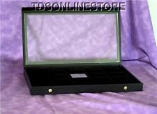 CLEAR TOP DISPLAY CASE IDEAL FOR LIGHTERS 20 SLOTS BLK