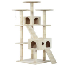 "73"" Cat Tree Condo for Indoor Cat Big Tower Giant Large Tall Furniture Scratcher"