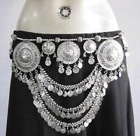Show Stopper Tribal Fusion Belly Dance Skirt Costume Coin BELT Kuchi Gypsy Boho