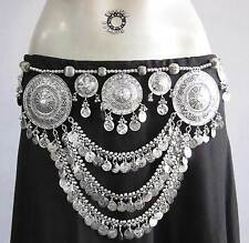 Show Stopper Tribal Belly Dance Coin BELT Kuchi Gypsy Boho Skirt Costume Jewelry