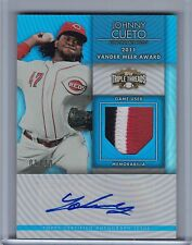 2012 Topps Triple Threads Sapphire JOHNNY CUETO Autograph Patch #09/10   (B4052)