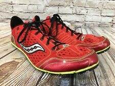 SAUCONY Endorphin LD Track Shoes Spikes Red & Yellow Men's Size 13 / 48 20005-2