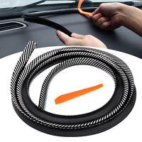 Car Accessories 1.6M Carbon Fiber Sealing Strip Dashboard Soundproof Dustproof