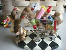 """Charming Tails """"Born to Shop"""" Fitz & Floyd #89/322 Momma and kids"""