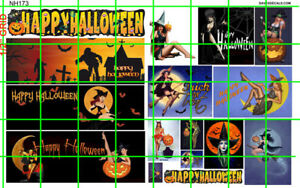 NH173 DAVE'S DECALS HALLOWEEN SET #1 HOLIDAY WATERSLIDE DECALS