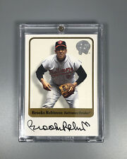 2001 Fleer Greats Of The Game Autograph Auto Brooks Robinson Baltimore Orioles