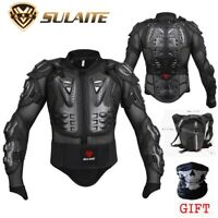 Motorcycle Motocross Racing Men's Armor Spine Chest Protective Jacket + Leg Bag