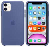 Leinenblau Apple Echt Original Silikon Schutz Hülle Case iPhone 11 6,1″