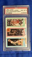 1980 Topps Basketball LARRY BIRD/Cartwright/Drew RC ROOKIE HOF PSA 8 NM-MT