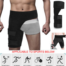 Thigh Support Brace Groin Hip Adjustable Hamstring Sprains Pain Relief Leg Wrap