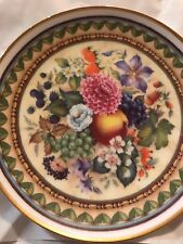Royale Garden Fine China Floral And Fruit Plate Euc