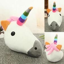Unicorn Pillow Cushion Cartoon Emoji Smiley Soft Rainbow Home Decor Kids Gift LG