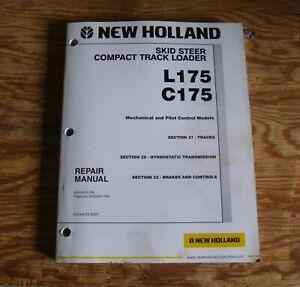 New Holland L175 Skid Steer Loader Transmission Brakes Service Repair Manual