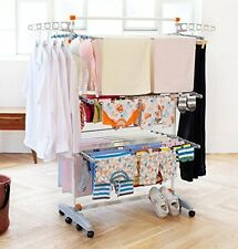 Foldable Laundry Heavy Duty Portable Storage Drying Clothes Rack Hang Dry System