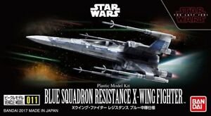 Bandai Star Wars Vehicle Model 011 Blue Squardron Resistance X-Wing Fighter