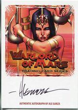 Breygents Warlord Of Mars San Diego Autograph Card WMA-AG2 Ale Garza