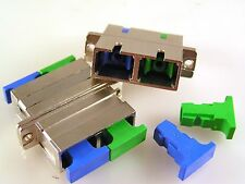 SC/PC/APC Duplex Fibre Coupler Flange Optical Fiber Adapter 2 Pieces MBD015
