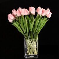 1X(10pcs Tulip Flower Latex Real Touch for Wedding Bouquet Decor Best Quality HJ