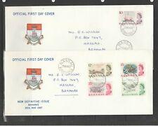 Bahamas FDC 1967 Defs on 4 FDCs, Hand addressed, SG 295/309