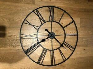 Thomas Kent Roman Numerals Skeleton Wall Clock, 80cm, X1 hand slightly dented
