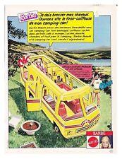 1980 : DOCUMENT (Ref CIM AL091 1481) : PUB POUPéE BARBIE CAMPING CAR 1page
