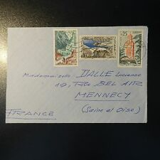 Algeria Letter Cover 1963 Algiers Station for Mennecy