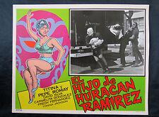 """EL HIJO DE HURACAN RAMIREZ"" TITINA Y PEPE ROMAY WRESTLING LOBBY CARD PHOTO 65"